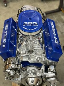 383 R Stroker Motor 525hp Roller Turn Key Pro Street Chevy Crate Engine Sbc Cnc