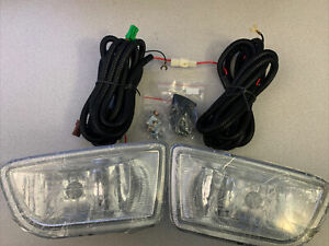 Universal Front Bumper Fog Light Kit With Wires Truck Car Suv