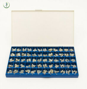Dental Polycarbonate Temporary Crowns Kit Box Of 180 Pcs Paper Guide Chart