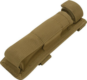 Coyote Brown Long Molle Holder For Baton Pouch Bottom Hook And Loop Web Strap