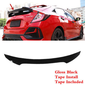 Fit For Honda Civic Hatchback 2017 2021 Tailgate Trunk Lip Middle Spoiler Wing