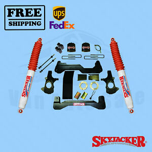 6 Suspension Lift Kit Shocks Skyjacker For Chevrolet Silverado 1500 2007 2013