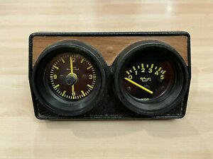 Rare Vw Volkswagen Mk1 Rabbit Golf Audi Vdo Clock Oil Pressure Gauge Panel Set