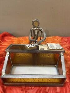 Vintage Metal Stained Glass Doctor Physician Business Card Holder