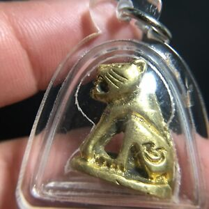Beautiful Tiger Thai Amulet Talisman Luck Rich Charm Protect Water Proof