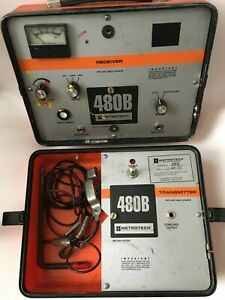 Tested Working Metrotech 480b Pipe Cable Locator With Conductive Cables