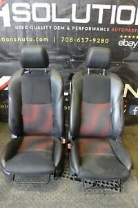 2010 2013 Mazdaspeed3 Bucket Seat Black Cloth Leather Front Ms3