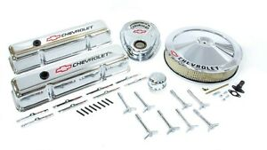 Proform Small Block Fits Chevy Logo Chrome Engine Dress Up Kit P n 141 900