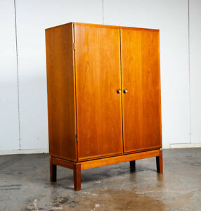 Mid Century Danish Cabinet Custom Armoire Wardrobe Oak Denmark Drawer Large Mcm