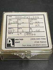 Directed Light Optical 4 Focal Length Ar Coated 1 18 Dia Filter Some Pitting