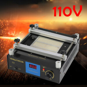 853a Bga Infrared Hot Plate Preheat Rework Smd Pcb Preheating Oven Station