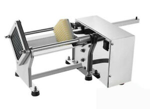 110v Electric French Fries Chip Cutter Potato Chips Slicer With 6 10 13mm Blade