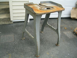 Industrial Cast Iron Base Table Legs Machine Age Vintage 29 Legs Only