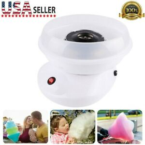 Electric Cotton Candy Machine White Floss Carnival Commercial Maker Party Home