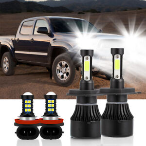 For Toyota Tacoma 2012 2015 Hi lo Beam Headlight Fog Light Bulb Combo Led Kit X4