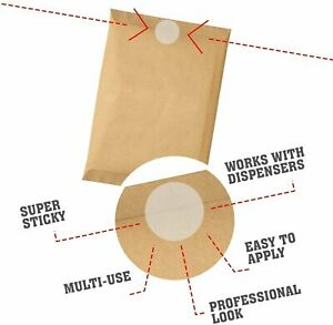 Mailing Seals Clear Wafer Shape Round Envelope Tab Sealers