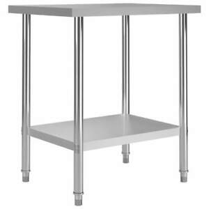 Stainless Steel Commercial Table Prep Work Bench Kitchen Storage Metal Stand New
