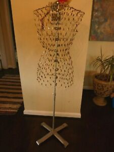Vintage My Double Dress Form Metal Wire W stand