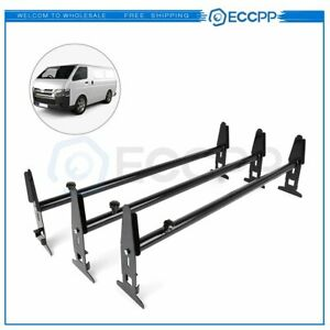 New Van Roof Ladder Rack Cargo Carrier Square 3 Rail For Chevy Dodge Ford Gmc