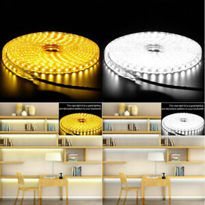 110v 5050 Led Strip Light Flexible Tape Home Outdoor Lighting Rope With Us Plug