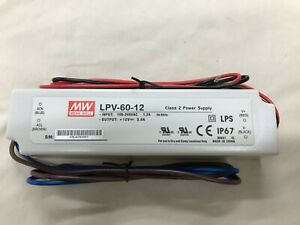 Mean Well Lpv 60 12 Panel Mount Power Supply 12 volt 5 amp Max
