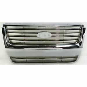 New Performance Grille Assembly Plastic For Ford Explorer 2006 2008