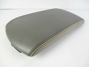 Infiniti Qx56 Center Console Arm Rest Lid Top Pad Cover Gray Tan Leather 05 07