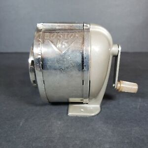 Vintage Boston Ks 8 hole Revolving Crank Pencil Sharpener Desk Wall Mount