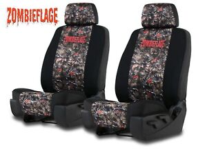 Neoprene Zombie Camo Seat Covers For Toyota Tacoma Front Low Back Bucket Seats
