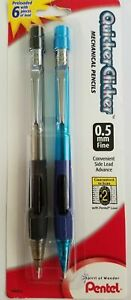 4 Pentel Quicker Clicker Mechanical Pencils 0 5mm Lead Reduced