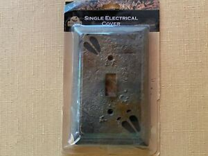 Big Sky Carvers Moose Track Rustic Hand Cast Single Switch Cover $9.99