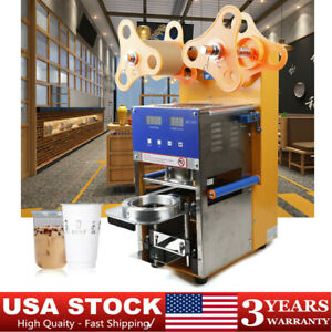 Semi automatic manual Cup Sealing Machine Commercial Flat Lipped Cups Sealer Usa