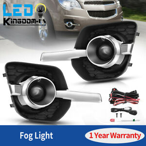 For 2010 2011 2012 2013 2014 2015 Chevy Equinox Fog Light Clear Lens W Wiring