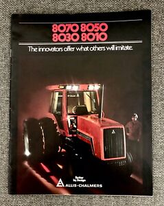 Vtg Allis Chalmers 8070 8050 8030 8010 Tracotr Brochure 32 Pages