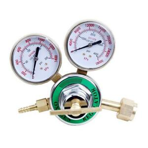 Cga540 Oxygen Regulator Welding Solid Brass Pressure Gauge For Gas Torch Cutting