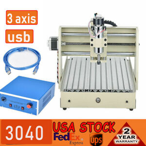 Cnc 3040 Engraer Usb 3 Axis Router Engraver Machine Engraving Milling Wood 400w