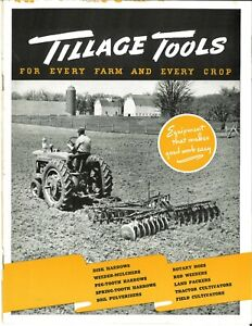 Ih Mccormick Tillage Tools Farmall Tractor Disk Spring Peg Tooth Harrows H M