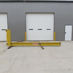 Abell Howe 1 2ton Cantilever Jib Crane 16 Swing 13 Trolley Travel Wall Mounted