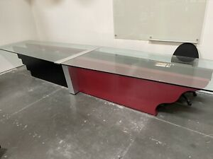 18ft Glass Conference Table