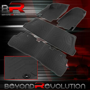 For 2018 2021 Honda Odyssey Replacement Heavy Duty Rubber All Weather Floor Mats