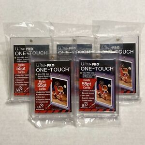 5 Ultra Pro One touch 55pt Magnetic Trading Card Holder Regular 55 Point 5 Pack