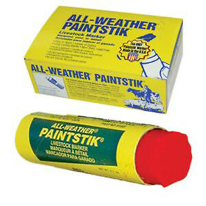 All Weather Paintstik Paint Sticks Livestock Markers Swine Cow box Of 12 Red