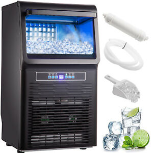 Vevor 70 Lbs Countertop Ice Maker Portable Ice Machine Automatic Ice Cube Maker