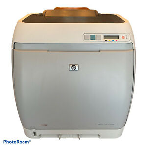 Hp Color Laserjet 2605dn Printer With Cords And Manual Tested Working Euc