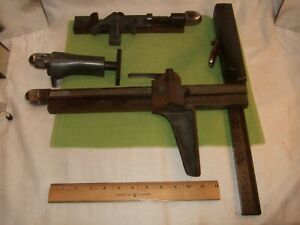 Vintage Fence Assembly Metal Cutting Lead Printers Table Saw Accessories Adjusti