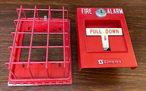 Simplex Pull Station 2099 9795 Unlocked No Key Addressable With Cage