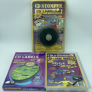 Cd Stomper Cd dvd Labeling System Complete Kit With 750 Labels