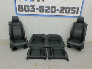 2015 2017 Ford Mustang Gt Black Leather Seat Set Power Oem