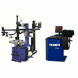 Triumph Ntc 950 Ntb 550 Tire Changer Wheel Balancer Combo Package Used