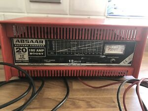 Classic Kit Car Garage Workshop Absaar 20 Amp Battery 180 Amp Booster Charger